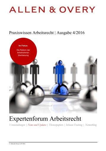 Expertenforum Arbeitsrecht