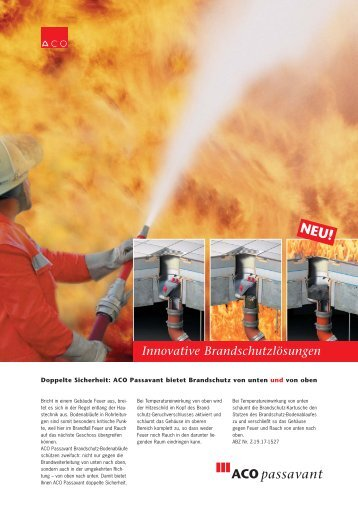 Flyer Brandschutz - ACO GmbH