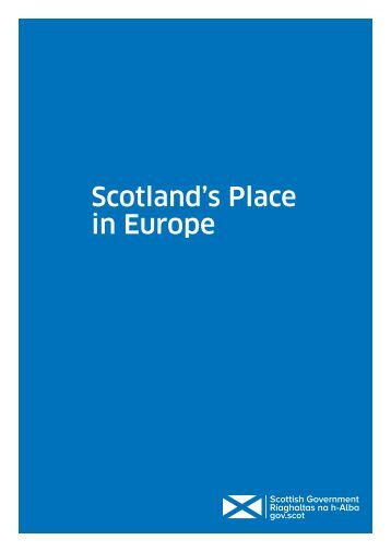 Scotland's Place in Europe