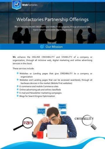 Webfactories Partnership Offerings