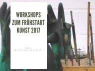 Workshops zum Frühstart Kunst 2017 an der HBK Braunschweig