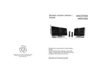 Philips Streamium Centre Streamium et satellite - Mode d'emploi - LIT