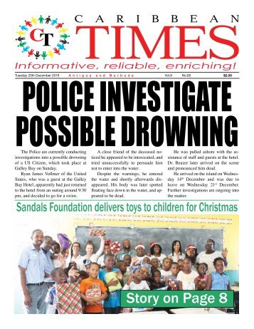 Caribbean Times 60th Issue - Tuesday 20th December 2016