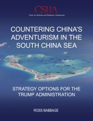 COUNTERING CHINA'S ADVENTURISM IN THE SOUTH CHINA SEA
