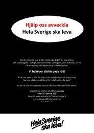 Hjälp oss avveckla Hela Sverige ska leva