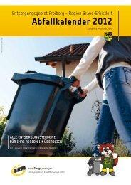 Abfallkalender 2012 - Lichtenberg im Erzgebirge