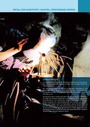 metall und kunststoff | elektro | erneuerbare energie - BFI Burgenland