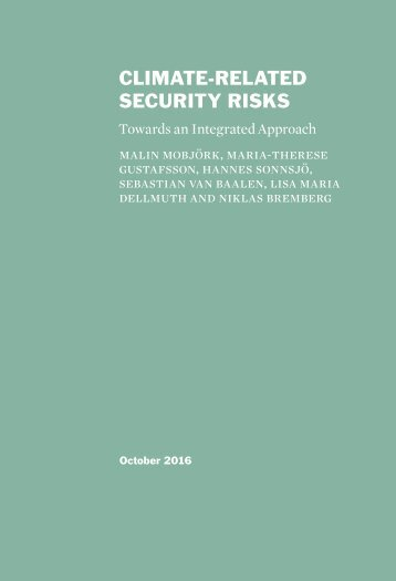 CLIMATE-RELATED SECURITY RISKS