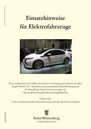 Einsatzhinweise für Elektrofahrzeuge - Landesfeuerwehrschule ...