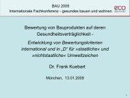 """Entwicklung von Bewertungskriterien international und in """"D"""