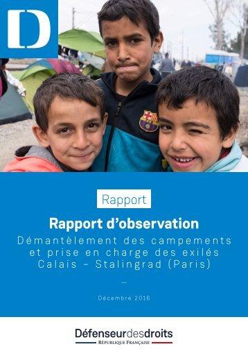 Rapport d'observation