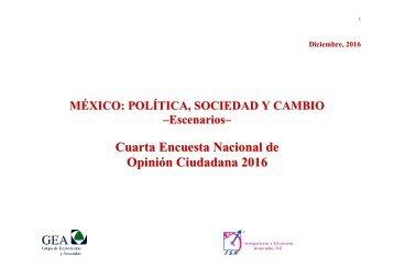 Cuarta Encuesta Nacional de Opinión Ciudadana 2016