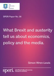 What Brexit and austerity tell us about economics policy and the media