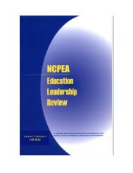 NCPEA Education Leadership Review