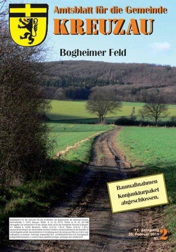 Amtsblatt Nr. 02/2011 vom 25.02.2011 - Gemeinde Kreuzau