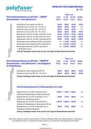 Preisliste von Polyfaser Vollkunststoffbecken Polyesterbecken ...