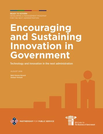 Encouraging and Sustaining Innovation in Government
