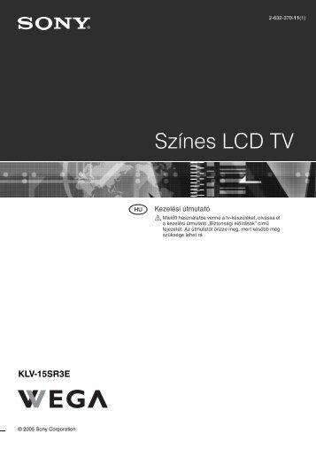 Sony KLV-15SR3E - KLV-15SR3E Istruzioni per l'uso Ungherese