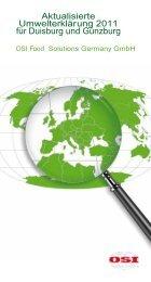 Aktualisierte Umwelterklärung 2011 für Duisburg und ... - EMAS