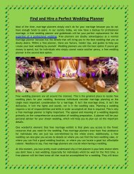 Find and Hire a Perfect Wedding Planner