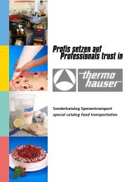 thermohauser Speisentransport