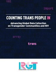 COUNTING TRANS PEOPLE IN