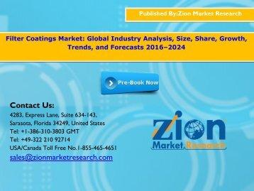 Filter Coatings Market, 2016 - 2024