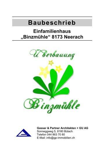 Baubeschrieb - Bonello & Partner Immobilien GmbH