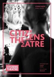 Citizens Theatre Spring 2017 Season Brochure