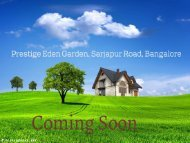 Prestige Eden Garden By Prestige Builders