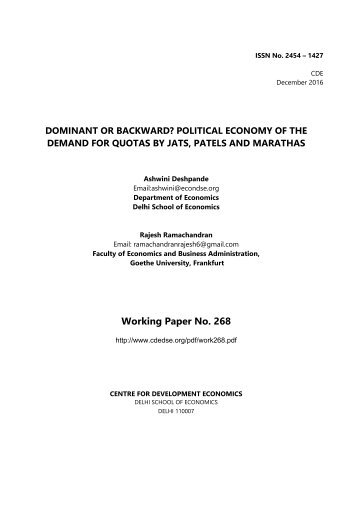 Working Paper No 268