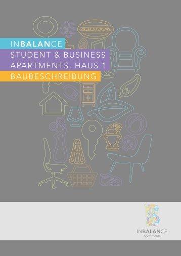 Baubeschreibung Apartments - Inbalance wohnen