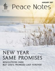 Peace Notes-January 2017 - Word of Peace Lutheran Church