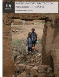 PARTICIPATORY PROTECTION ASSESSMENT REPORT
