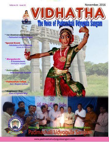VIDHATHA NOV-16 - The Voice of Padmashali Udyogula Sangam