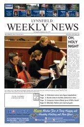 Lynnfield Weekly News - December 22, 2016