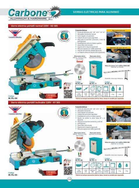 Catálogo Máquinas para aluminio y PVC Yilmaz