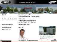 Oktober~April 2011 Inbetriebnahme: April 2011 ... - MTF GmbH