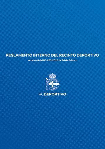 REGLAMENTO INTERNO DEL RECINTO DEPORTIVO