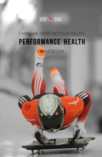 2016 Performance Health Handbook