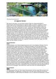 Schwimmteich - SwissBioPool