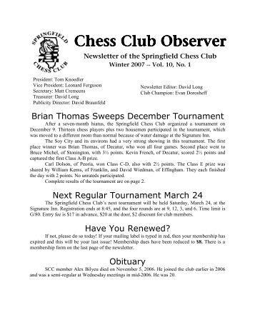Chess Club Observer