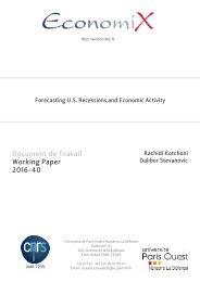 Document de Travail Working Paper 2016-40
