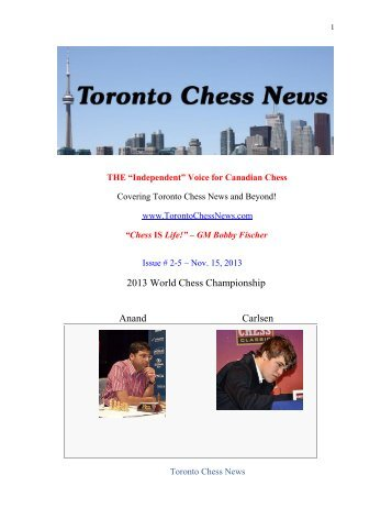 Toronto Chess News