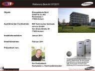 Referenz-Bericht 12/2010 Referenz-Bericht 07/2011 - MTF GmbH