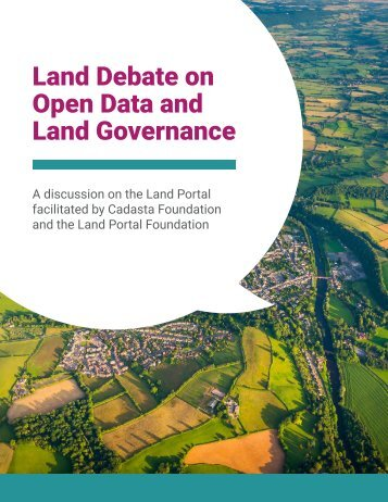 Land Debate on Open Data and Land Governance