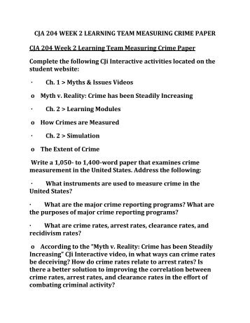CJA 204 Week 4 Individual Assignment Jail and Prison Paper