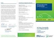 Erlanger-Bayreuther Kunststofftage - Lehrstuhl für Kunststofftechnik