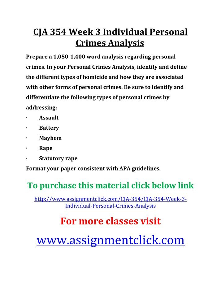 cja 354 week 3 dq Cja 354 week 3 dq this work of cja 354 week 3 discussion question includes: what distinguishes premeditated murder from felony murder give some examples of each law - general law what distinctions can be made about the different types of homicide.