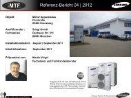 September 2011 Inbetriebnahme: September 2011 ... - MTF GmbH